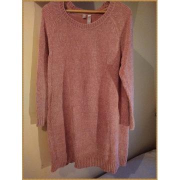 Sweter RAINBOW   SZENILA   Różowy         44