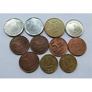 1 cruzado 1987 i zestaw centavos, Brazylia