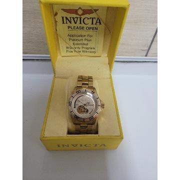 Piekna Invicta Pro Diver Gold Plated Automat