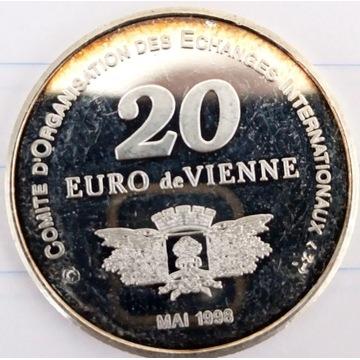 Posrebrzany lub srebrny numizmat. Francja 1998rok
