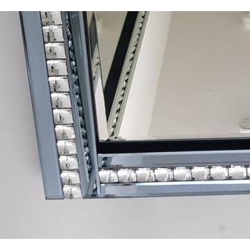 Nowoczesne lustro duże 120x80 prostokątne glamour