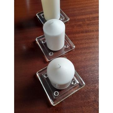 3 podstawki pod świece / świeczki