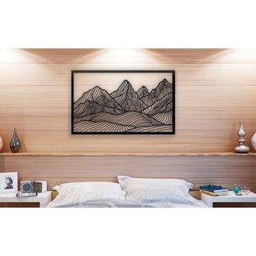 Dekor Góry ażurowe 3d dekoracja ścienna 90x56