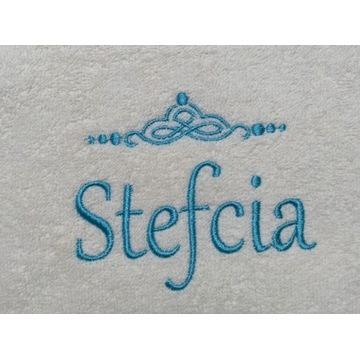 Ręcznik 30x50 z haftem imienia Stefcia