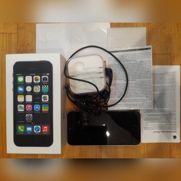 Apple Iphone 5s 16GB, Space Gray. Zestaw !