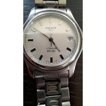 Szwajcarski Zegarek TISSOT Titanium PR50, tytanowy