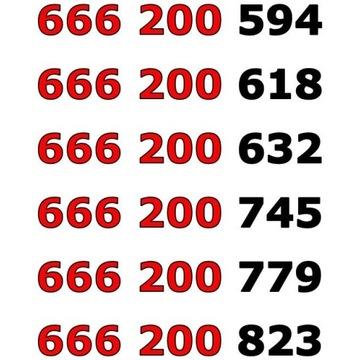 666 200 xxx ZŁOTY ŁATWY NUMER STARTER x 6