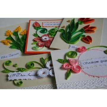 KARTKI OKOLICZNOŚCIOWE, ręcznie robione