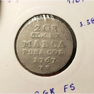 SAP 2 grosze - 1767 r. SREBRO