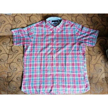 Koszula Tommy Hilfiger XL krótki rękaw super stan