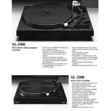 Katalog Technics, gramofony z 1977