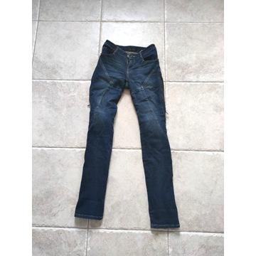 4.BIKER spodnie JEANS MAX WOMAN blue rozmiar W26