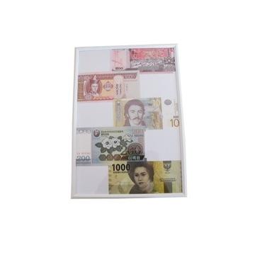 Obraz zawierające prawdziwe banknoty