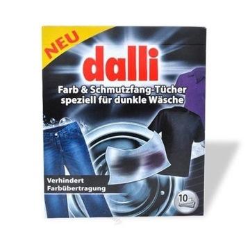 Chusteczki do prania ciemnych tkanin Dalli 10szt