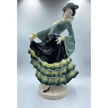 Stara figurka Tancerka Art Deco. Niemcy lata 30te