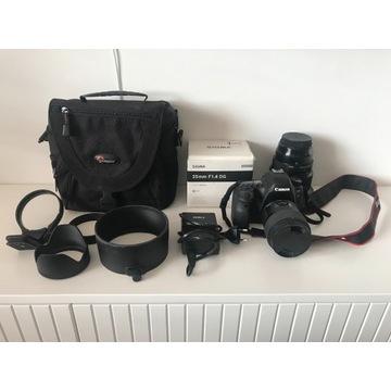 Canon 6d Mark II + Sigma 105 mm 1.4 Sigma 35mm 1.4