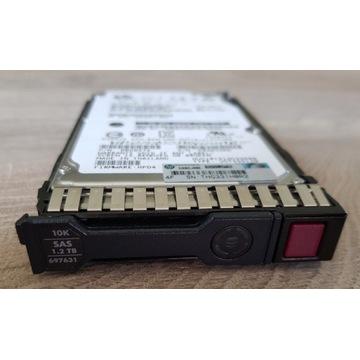 "2 x HPE Hot-Swap SAS 1,2TB, 10K, 2,5"" HDD"