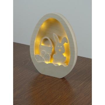 Jajko Pisanka koszyk zając zajączek Wielkanoc LED