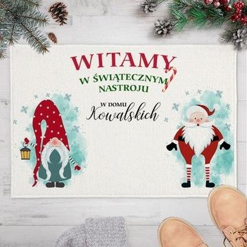 WYCIERACZKA/DYWANIK świąteczna Nastrój + Nazwisko
