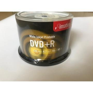 Nowe puste płyty DVD+R białe możliwość nadruku