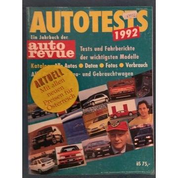 AUTOTESTS - 1992r Katalog austriacki 370 stron.