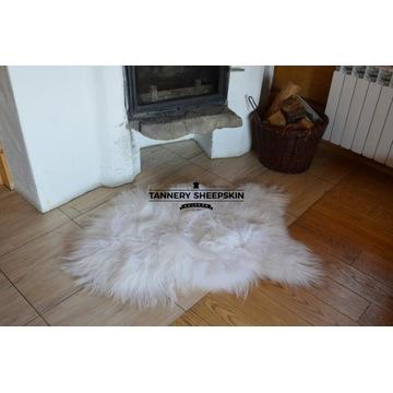 Skóra Owcza Naturalna XXXL Island Biały Długi Włos