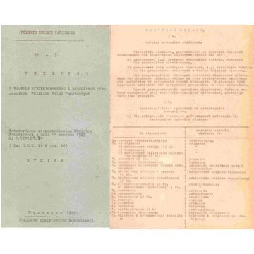 PKP -- PRZEPISY O EGZAMINACH PRACOWNIKÓW -- 1929