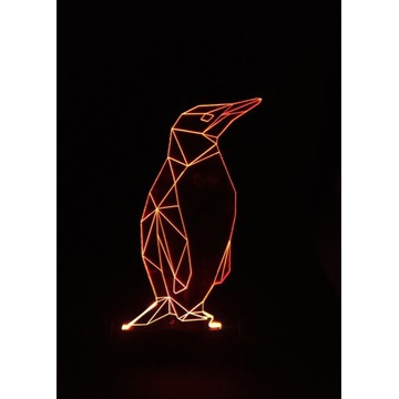 Lampa  Statuetka LED Prezent Plexi - Pingwin