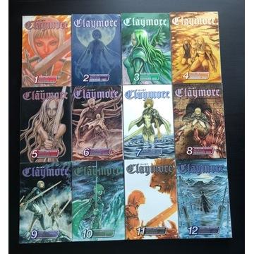 manga po angielsku claymore tomy 1-12