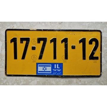 Izrael tablica rejestracyjna rozmiar USA