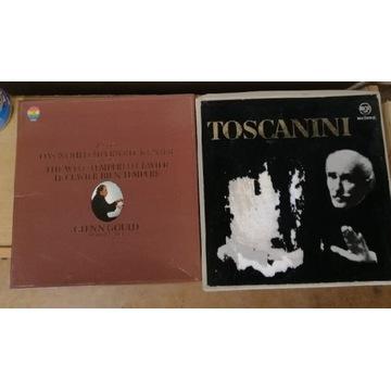 Zestaw płyt winylowych Toscanini ta Glen Gould