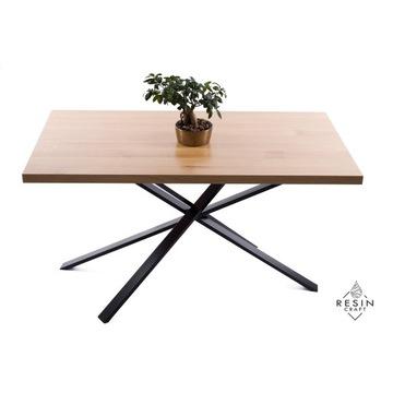 Stół dębowy,biurko dębowe, loft, nogi pająk profil