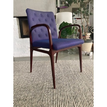 Krzesło tapicerowane / fotel ANTYK - lata 60-te, s