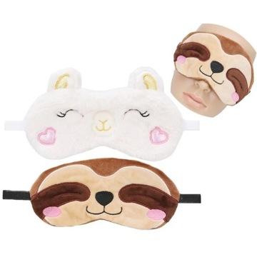 Opaska maska na oczy do spania maseczka
