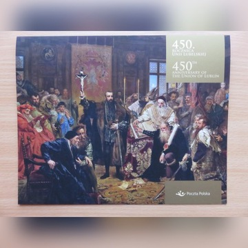 Folder Unia Lubelska Zygmunta Augusta Matejko