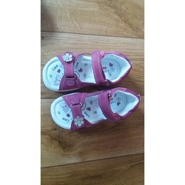Sandałki dziewczęce rozmiar 26