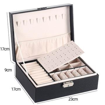 Pudełko Organizer na Biżuterię kuferek Średni