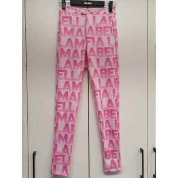 Spodnie LABELLAMAFIA różowe na zamek r. M -60%