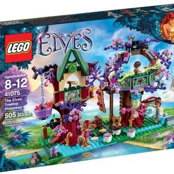 zestaw lego elves 41075 kryjówka elfów na drzewie