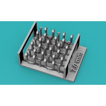 Szekle proste (U) 7,0mm - 10 sztuk - 1:48