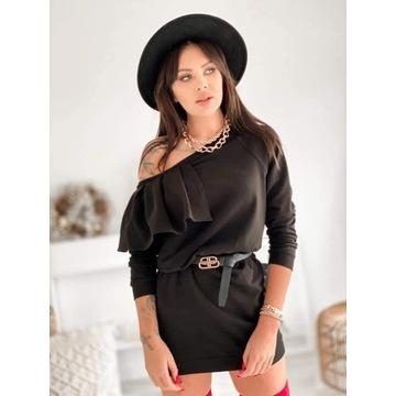 Czarna bawełniana sukienka Laki