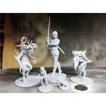 Druk 3d żywica I malowanie figurki