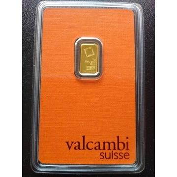 Valcambi sztabka złota 1g