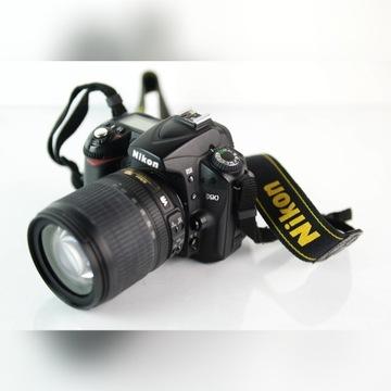 Aparat Nikon D90 + DX 18-105mm VR