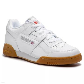 Buty Reebok Workout Plus 38,5   24,5cm Białe