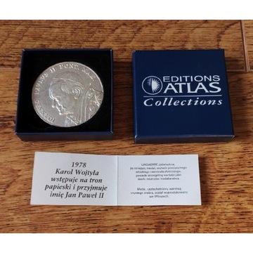 Medal Karol Wojtyła wstępuje na tron papieski