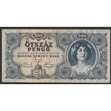 Węgry 500 pengo 1945 - seria K 093