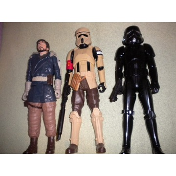 3 Figurki Star Wars skala 1/12 czyli ok 30cm