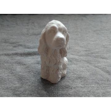 Zestaw 10 sztuk figur Pies Spaniel z gipsu