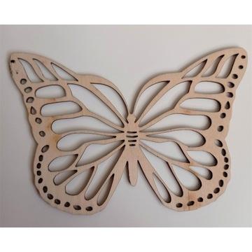 Motyl Motylek drewniany ażurowy 10 cm